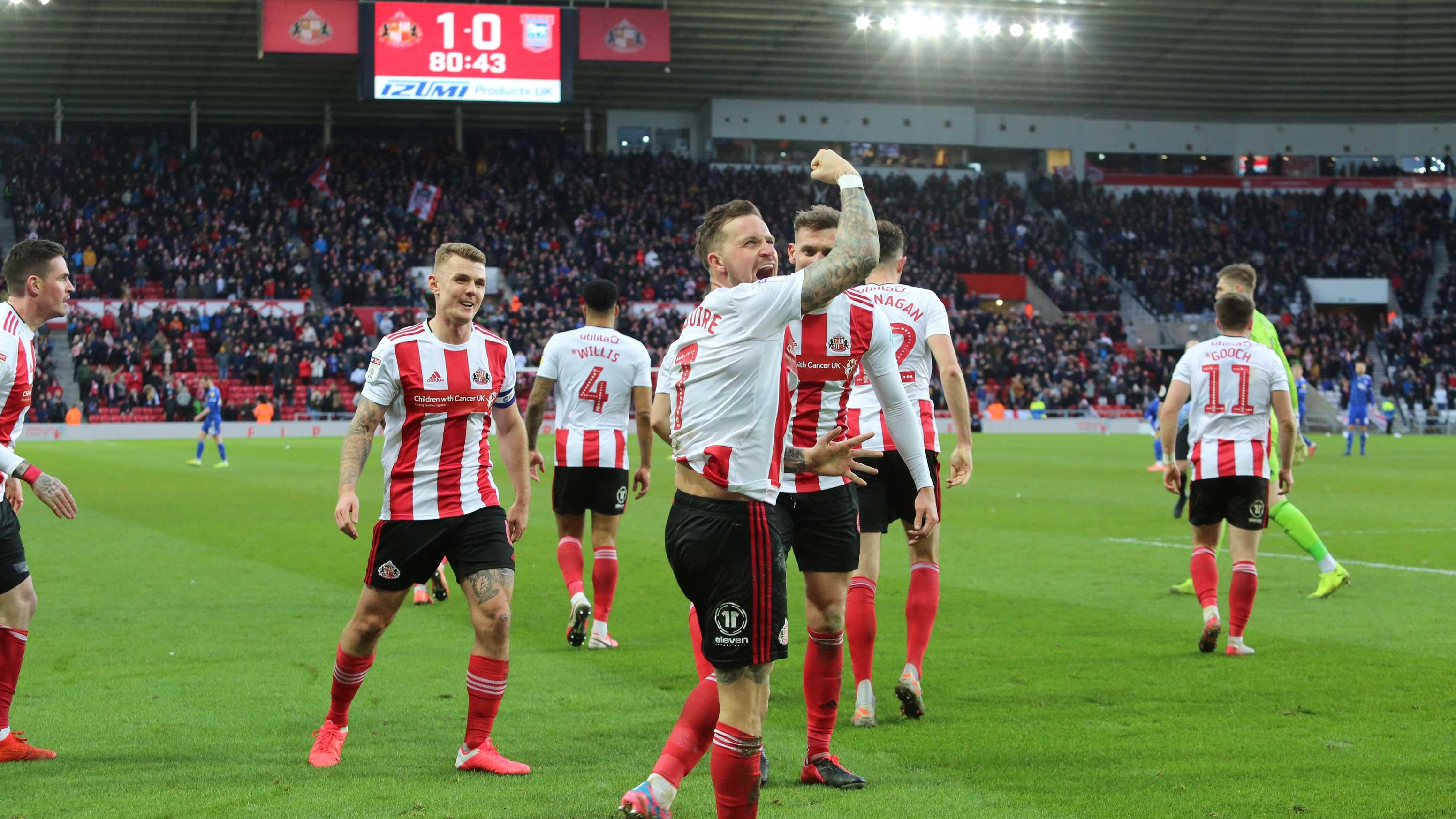 Maguire celebration Ipswich SAFC blog